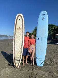 Surfing in Jaco Beach